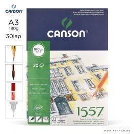 canson 1557 papir a3 30lap 180g rr finom
