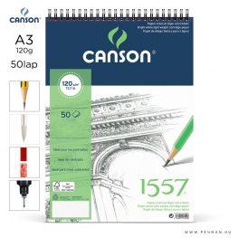 canson 1557 papir a3 50lap 120g rs finom