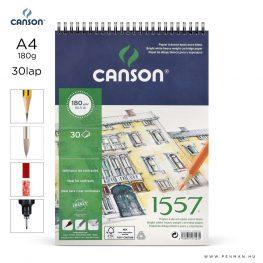 canson 1557 papir a4 30lap 180g rs finom