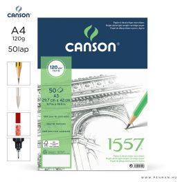 canson 1557 papir a4 50lap 120g rr finom