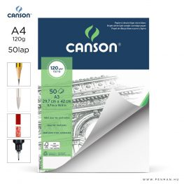 canson 1557 papir a4 50lap 120g rr finom lap