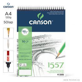 canson 1557 papir a4 50lap 120g rs finom