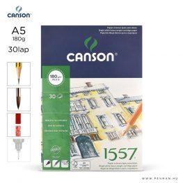 canson 1557 papir a5 30lap 180g rr finom