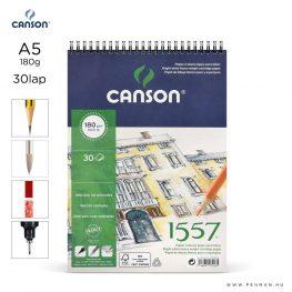 canson 1557 papir a5 30lap 180g rs finom