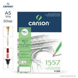 canson 1557 papir a5 50lap 120g rr finom