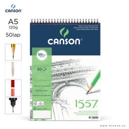canson 1557 papir a5 50lap 120g rs finom