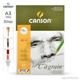 canson cagrain papir a3 30lap 125g rr finom
