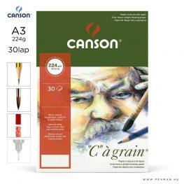canson cagrain papir a3 30lap 224g rr finom