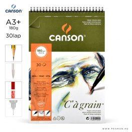 canson cagrain papir a3plus 30lap 180g rs finom