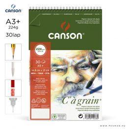 canson cagrain papir a3plus 30lap 224g rs finom