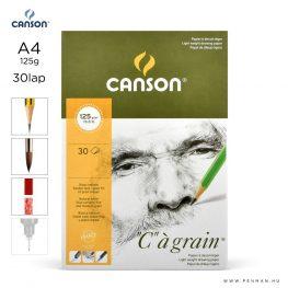canson cagrain papir a4 30lap 125g rr finom