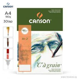 canson cagrain papir a4 30lap 180g rr finom