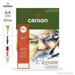 canson cagrain papir a4 30lap 224g rr finom