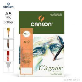 canson cagrain papir a5 30lap 180g rr finom