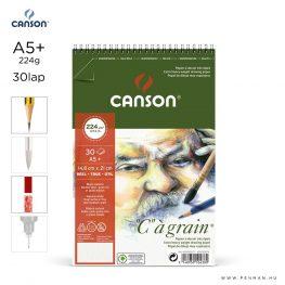 canson cagrain papir a5plus 30lap 224g rs finom