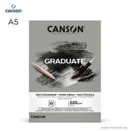 canson graduate grey A5 001