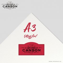 canson heritage hot press 640g a3 lap