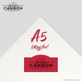 canson heritage hot press 640g a5 lap