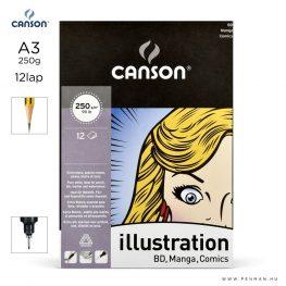 canson illustration papir a3 12lap 250g rr sima
