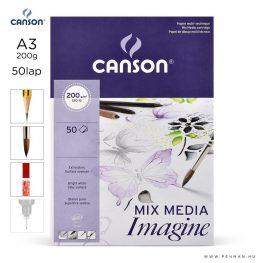 canson imagine papir a3 50lap 200g rr sima