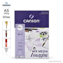 canson imagine papir a5 50lap 200g rr sima