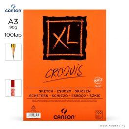 canson xl croquis papir a3 100lap 90g rr finom