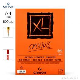 canson xl croquis papir a4 100lap 90g rr finom