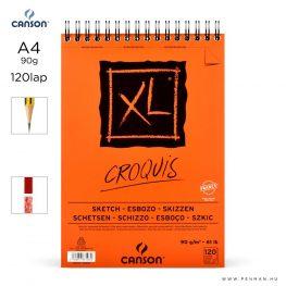 canson xl croquis papir a4 120lap 90g rs finom