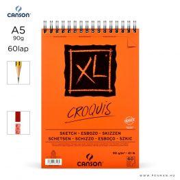 canson xl croquis papir a5 60lap 90g rs finom