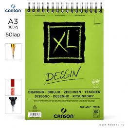 canson xl dessin papir a3 50lap 160g rs finom