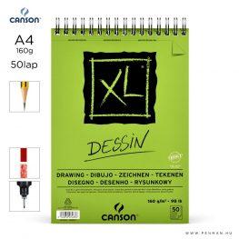 canson xl dessin papir a4 50lap 160g rs finom