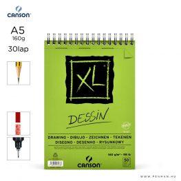 canson xl dessin papir a5 30lap 160g rs finom