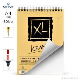 canson xl kraft papir a4 60lap 90g rs finom lap