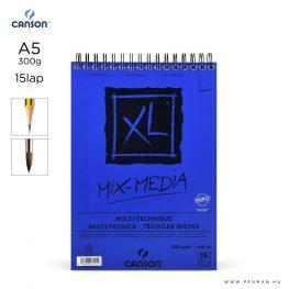 canson xl mix media papir a5 15lap 300g rs finom