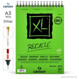 canson xl recycle papir a3 50lap 160g rs finom