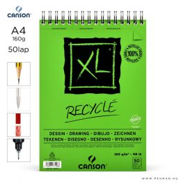 canson xl recycle papir a4 50lap 160g rs finom