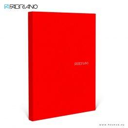 fabriano ecoqua A4 piros pontozott 90lap 01