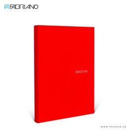 fabriano ecoqua A5 piros pontozott 90lap 01