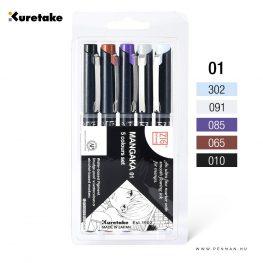 kuretake zig 5 colours set 001