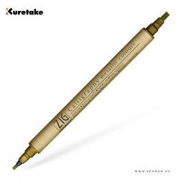 kuretake zig calligraphy gold 001