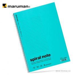 maruman spiral note A4 lined light blue 30lap penman
