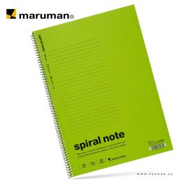 maruman spiral note A4 lined olive 30lap penman