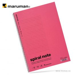 maruman spiral note A4 lined pink 30lap penman