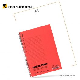 maruman spiral note A5 lined red 30lap penman