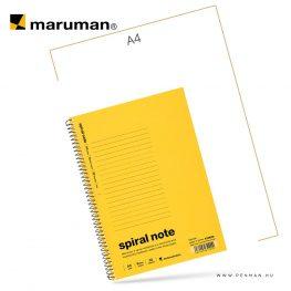 maruman spiral note A5 lined yellow 30lap penman