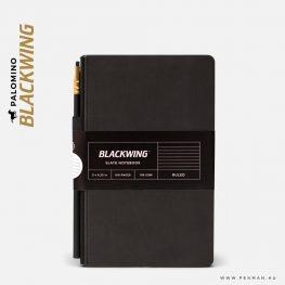 palomino blackwing notebook slate black ruled penman
