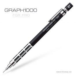 pentel graph1000 forpro 05 black silver penman