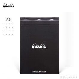 rhodia dotpad a5 pontozott fekete 001