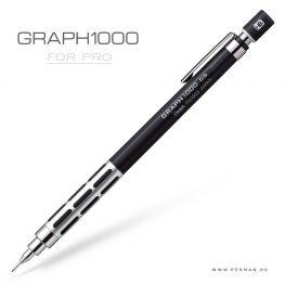pentel graph1000 forpro 03 black silver penman